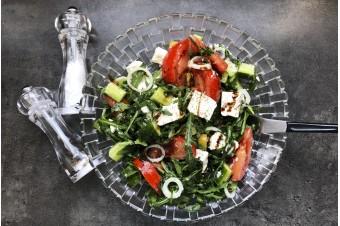 Рецепт. Греческий салат с рукколой - вкусно, легко и полезно