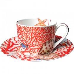 Чашка чайна з блюдцем 230мл фото - інтернет-магазин посуду Posud:Meister