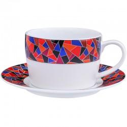 Чашка для завтрака c блюдцем 360мл фото — интернет-магазин посуды Posud:Meister