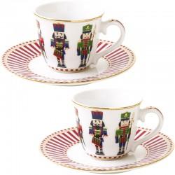 Набор чашек для кофе с блюдцем 80мл (2шт.) фото — интернет-магазин посуды Posud:Meister