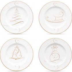 Набір тарілок акцентних 17см (4шт.) фото - інтернет-магазин посуду Posud:Meister