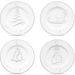 Набор тарелок акцентных 17см (4шт.) фото — интернет-магазин посуды Posud:Meister