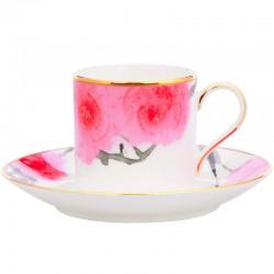 Чашка кавова з блюдцем 105мл фото — інтернет-магазин посуду Posud:Meister