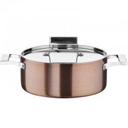 Каструля низька з кришкою 2,25л/20см фото — інтернет-магазин посуду Posud:Meister